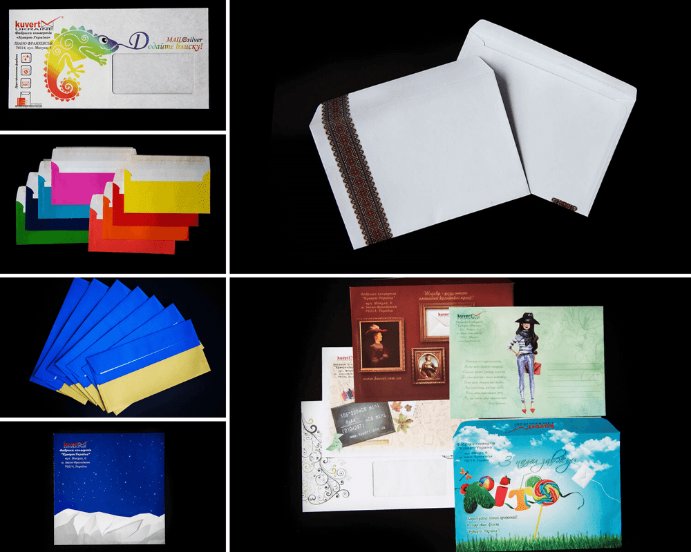 Printed mix envelopes